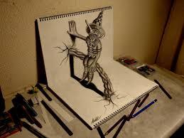 3d pencil drawing art 3d pencil art pencil 3d illusion drawing