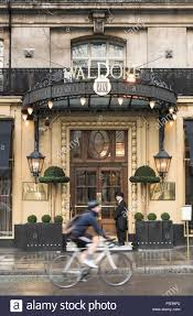 exterior of the famous waldorf hotel on aldwych in covent garden