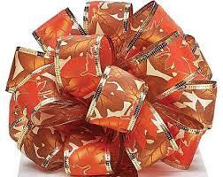 fall ribbon fall wired ribbon etsy