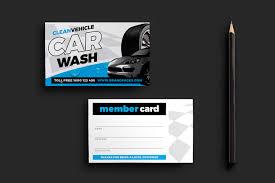 car wash business card template for photoshop u0026 illustrator
