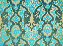 rocco damask woven turquoise velvet jacquard fabric gotta find