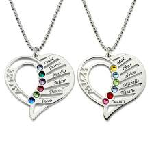 necklace birthstones personalized birthstone necklace family jewelry gift for