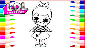 how to draw lol surprise dolls coloring page drawing pages to