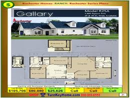 Modular Floor Plans With Prices by Gallery Rochester Modular Home Model R25a Ranch Plan Price