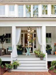 front porch charming design using round white columns latest