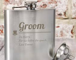 and groom flasks groom hip flask etsy