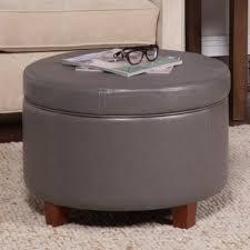 furniture storage tray ottoman with grey round storage ottoman