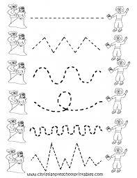Preschool Handwriting Worksheets Math Free Pre K Winter Worksheets Intrepidpath Printable Tracing