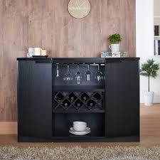 amazon com iohomes annadel wine cabinet buffet black kitchen