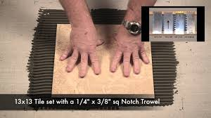 trowel size