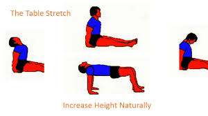 how to grow tall increase height exercise the table exercise