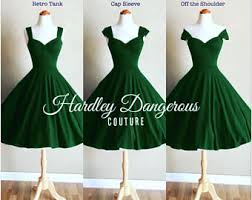 forest green dress etsy