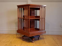 sold edwardian period mahogany revolving bookcase antique
