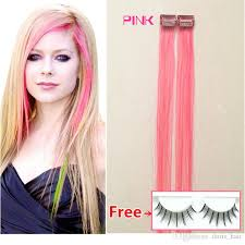 hair clip extensions pink hair mix colour pack cheap clip in human hair extension remy