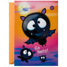 Halloween Flying Bats Flying Bats Halloween Sound Card With Light Greeting Cards