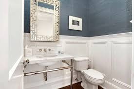 wainscoting bathroom ideas pictures powder room wainscoting contemporary bathroom carole reed design