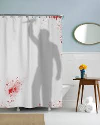horrific shower curtains for horror fans horror home decor