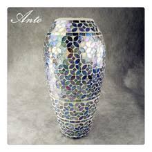 Mirror Vases Glass Mosaic Mirror Vase Glass Mosaic Mirror Vase Suppliers And