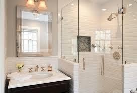 bathrooms with subway tile ideas white subway tile shower ideas for sleek looking bathroom