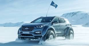 kereta hyundai ioniq hyundai santa fe survives trip across the antarctic