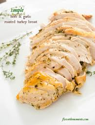 simple herb and garlic roasted turkey breast