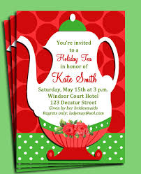 christmas tea party christmas tea party invitation printable or printed with free