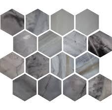 Marble Mosaic Tile 3 Inch Hexagon Polished Ice Blue Marble Mosaic Tile U2013 Deko Tile