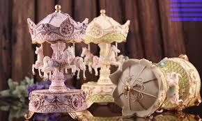 romantic carousel music box rotating christmas gift unusual gifts