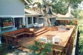 Ideas For Backyard Patio Patio And Deck Ideas For Backyard Large Backyard Deck Ideas