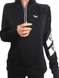 secret pink sweater pink black s secret half zip large m sweater