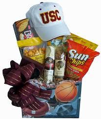 California Gifts Cesta Gift Baskets Usc Trojans Gift Basket