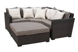 Veranda Metal Patio Loveseat Glider by 5 Piece Outdoor Patio Sectional Sofa Veranda Rc Willey