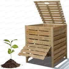 construction d une serre de jardin en bois composteur bois 800l en pin traité composting garden ideas and