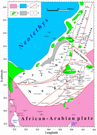 Isoline Map Definition Tectonic Geophysical Mapping Of Israel And The Eastern