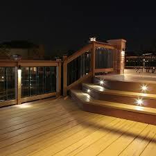 solar powered deck post lights decoration outdoor stair lights led lighting designs ideas solar