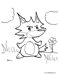 fox coloring pages drawing for kids kids crafts and activities