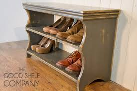 Shoe Storage Bench Shoe Storage Cabinet Rack Bench Stool Pine Antique Pine