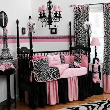 Pink And Black Crib Bedding Sets Interior Design Zebra Bedroom Furniture Theme Crib Bedding