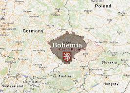 bohemia map map of bohemia my