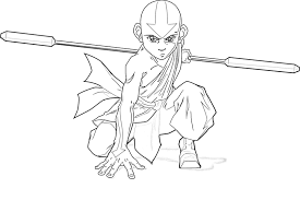 avatar airbender coloring pages glum