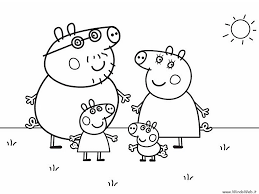 free peppa pig family coloring pages with peppa pig colouring in