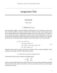 latex templates assignments