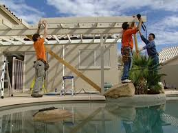 Design A Patio Create Rafters For A Patio Roof How Tos Diy