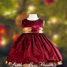 polka dot burgundy baby dress on lovekidszone