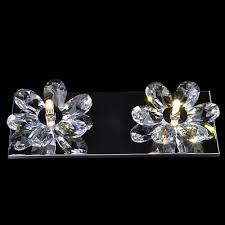 Double Light Wall Sconce Beautiful Flowers Design Add Charm To Delightful Double Light Wall