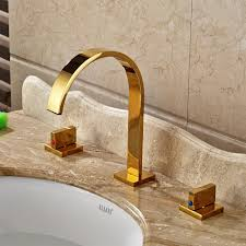 Mounted Bathroom Sinks Gold Finish Deck Mounted Sink Faucet
