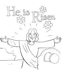 jesus risen coloring coloring