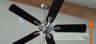 beam mount for ceiling fan want to know how to make unsightly wires to a ceiling fan mounted on