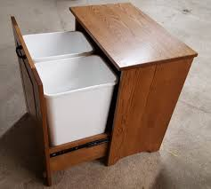 Wooden Kitchen Garbage Cans by Kitchen Wood Trash Can Tilt Out Cans Wooden Cabinet F Ooferto