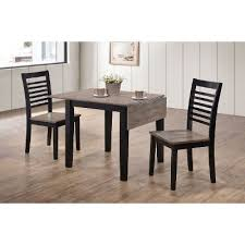 Drop Leaf Dining Room Table with Ebony And Gray 3 Piece Drop Leaf Dining Set South Beach